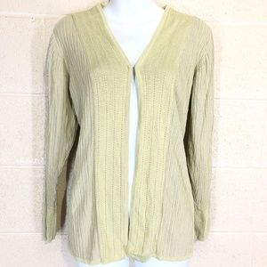 TERRY LEWIS Silk & Cotton Cardigan Thin Sweater  S